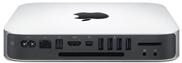 Raer of Mac mini showing ports
