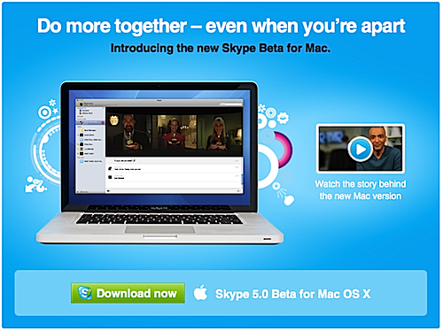 Skype 5 Beta for Mac now available