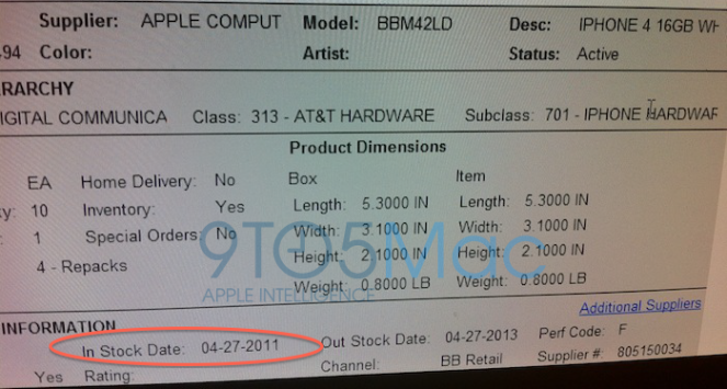 White iPhone launch date