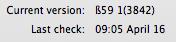 Quicksilver version number